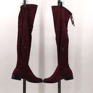 Catherine Malandrino Over the Knee Boot burgundy
